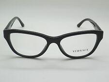 NEW Authentic VERSACE Mod. 3204 GB1 Black 51mm RX Eyeglasses