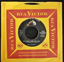 Hank Locklin RCA 7871 This Song Is Just For You and From Here To There To You