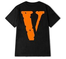 New Vlone Know Big Wave Friend Letter V Short Sleeve Mens T-Shirt  Women Top Tee