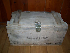 """Vintage Military Ammo Wooden Box Crate 22"""" L 12"""" H 11""""D-Excellent condition"""