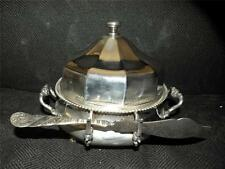 ANTIQUE REED & BARON SILVER PLATE BUTTER DISH NO. 3660