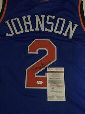 Larry Johnson Signed Custom Knicks Jersey (Authenticated)