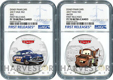 2017 DISNEY PIXAR CARS: DOC HUDSON & TOW MATER - NGC PF70 FIRST RELEASES W/OGP