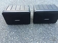 Bose Model 101 Music Monitor  Indoor/Outdoor Stereo Speakers Black Pair Of 2
