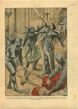 Jeanne d'Arc Pillage Soldats Eglise de Saint-Pierre-le-Moûtier 1921 ILLUSTRATION