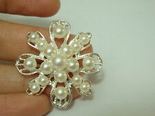 2 large diamante buttons rhinestone crystal pearl embellishment sewing 33 mm-07