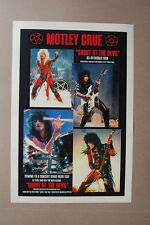 Motley Crue Concert Tour Poster 1983 1984 World Tour Shout at the Devil #2