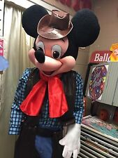 New Cowboy Mickey mouse with hat Adult mascot costume