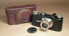 Leica I Model A Ia Standard Elmar 5 Digit Serial Number Black Paint Leitz Camera