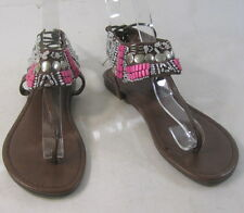 Summer NEW brown.beaded   WOMEN SHOES ROMAN GLADIATOR  SANDALS   SIZE  5.5