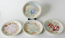 Vtg Vignaud La Seyrie Limoges P and P France Floral Small Plates Dishes Set of 4
