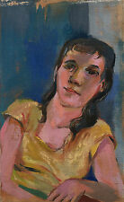 SAUL LISHINSKY (1922-2012) - PORTRAIT OF A YOUNG WOMAN & OIL ON CANVAS PAINTING