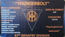 83RD INFANTRY DIVISION  WW II  3'X5' 2PL POLYESTER 1-SIDED INDOOR 4 GROMMET FLAG