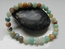 Amazonite 6mm Round Bead Beaded Stretch Bracelet Gemstone Crystal Handmade