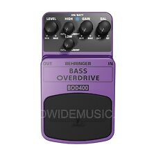 Behringer BOD400 Bass Overdrive Authentic Tube Sound Guitar Effects Pedal