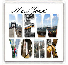 NEW YORK COLOUR VIEW FRIDGE MAGNET SOUVENIR IMAN NEVERA