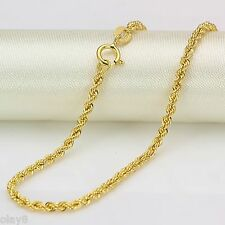 Pure Au750 18K Yellow Gold Women's Men's Rope Chain Chain Link Necklace 15.7inch