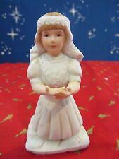 Ceramic Little GIRL Kneeling First Communion  1994 Roman    (AB1G1215N)