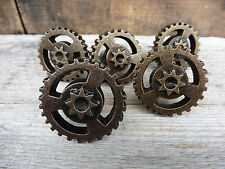 Metal Gear Plate Drawer Pull Knob ~ Industrial Man Cave Steampunk Art Home Decor