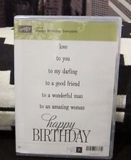 "BRAND NEW Stampin Up ""Happy Birthday Everyone"" - Clear-Mount Stamp  Set"