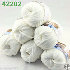 Sale New 6ballsx50g Soft Worsted Cotton Chunky Bulky Hand Knitting Quick Yarn 02
