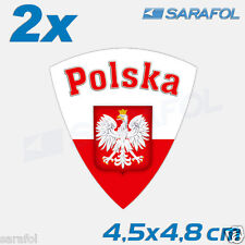 2x Polen Aufkleber (Nr.021) Polska Naklejka Poland Sticker Adesivo Polonia