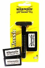 WILKINSON SWORD  DOUBLE EDGE SHAVING RAZOR + 3 PACKETS OF BLADES