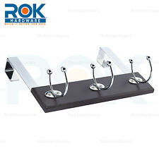 BLACK EXPRESSO OVER THE DOOR 3 HOOK CLOSET COAT CLOTHES TOWEL SWIVEL HOOK HANGER