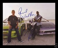 FAST & FURIOUS - TYRESE GIBSON & PAUL WALKER SIGNED AND FRAMED PP PHOTO POSTER