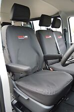 VOLKSWAGEN VW TRANSPORTER T5 BLACK SPORTLINE HEAVY DUTY VAN SEAT COVERS