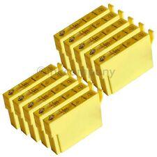 10 kompatible Tintenpatronen gelb für den Drucker Epson SX440W S22 SX230