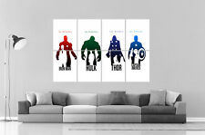Minimalst Marvel Avengers HEROS CHARACTERS Wall Poster Grand format A0  Print