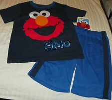 """NEW"" Sesame Street ~ ELMO ~ SHIRT & SHORTS 2 PC SET Boy Sz 4T 4 NWT"