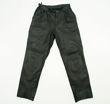 HEIN GERICKE Mens Black Leather Motorcycle Trousers Pants Size EU 52