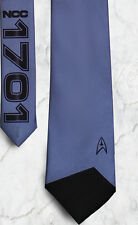 L@@K! Star Trek Steel Blue Star Fleet Necktie