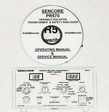 Sencore PR570, Isolation Transformer / Tester Operating & Service Manual