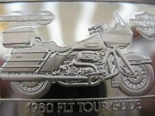 1.4-OZ.999 PURE SILVER 1980 TOUR GLIDE HARLEY DAVIDSON 90TH ANNIVERSARY BAR+GOLD