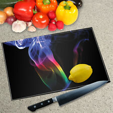 Digital Print Worktop Saver Chopping Board - Rainbow Smoke