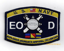 EXPLOSIVE ORDANCE DISPOSAL TECHNICIAN EOD RATING HAT PATCH US NAVY VETERAN GIFT