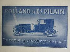 2/1923 PUB ROLLAND ET PILAIN CONSTRUCTION AUTOMOBILE CAR WAGEN VOITURE FRENCH AD