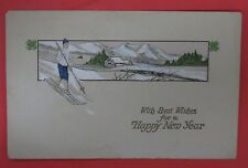 ANTIQUE TUCK'S WITH BEST WISHES FOR A HAPPY NEW YEAR POSTCARD