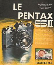Publicité 1974  Appareil photo ASAHI PENTAX ES II à obturateur électronique