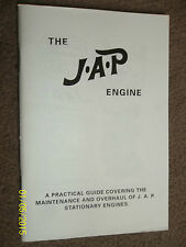 JAP J.A.P. STATIONARY ENGINE MANUAL MODELS 2A 2S 4F 4/2 4/3 O 5 6 & 55  1952