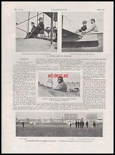 Doc.Ancien  Aeroplane Farman Lesseps monoplan traversée de la  Manche 1910