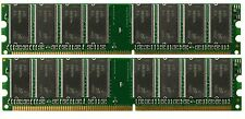 2X 512MB 1GB DDR SDRAM PC2700 PC 2700 333Mhz 184Pin New