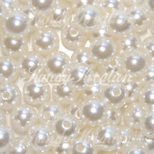 10mm Ivory Cream Plastic Round Pearl Spacer Beads for bubblegum jewelry necklace