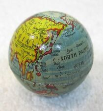 Vintage Metal World Globe Pencil Sharpener Tin Litho  Colorful and Clean! T17