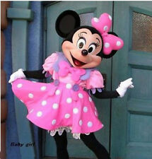 2015 HOT Crazy Sale Pink Minnie Mouse Mascot Costume Adult Sz Fancy Dress EPE