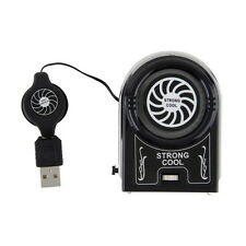 Mini Vacuum USB Cooler Air Extracting Cooling Fan Pad for Notebook Laptop RX