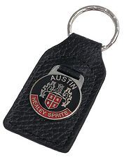 Austin Healey Sprite (red) leather and enamel car key ring fob